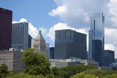 De Architectuur van de Horizon van Chicago Royalty-vrije Stock Afbeelding