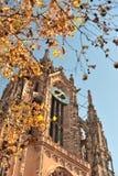 De architectuur van de kathedraal deatails. Frankfurt Stock Foto's