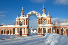 De architectuur van de museum-Reserve ` Tsaritsyno ` Royalty-vrije Stock Foto