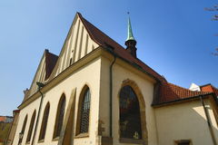De architectuur van de oude huizen, Oude Stad, Praag, Tsjechische Republiek Stock Afbeeldingen
