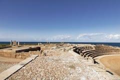 De architectuur van de Roman periode in het nationale park Caesarea Stock Afbeeldingen
