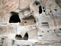 De Architectuur van de Ruïnes van Bandelier Stock Foto's