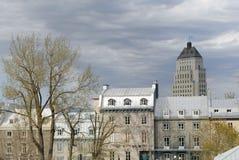 De Architectuur van de Stad van Quebec stock foto's