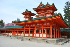 De architectuur van de tempel stock foto