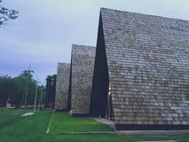 De architectuur van de Universiteit van Khon wordt Kaen genoemd Agroafzet Stock Afbeelding