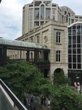 De architectuur van de verbindingsbrug Stock Foto