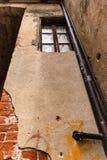 De architectuur van een oud Italiaans dorp royalty-vrije stock afbeelding