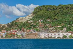 De architectuur van de eilanden van Griekenland Stock Foto's