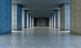 De architectuur van het cement Stock Afbeelding