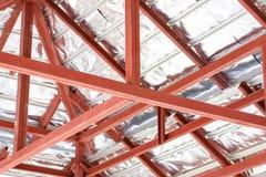 De architectuur van het dakstaal in aanbouw royalty-vrije stock fotografie