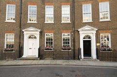 De architectuur van het huis in Londen, Engeland Stock Foto's
