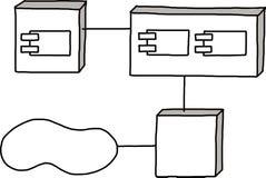 De architectuur van het informatiesysteem Stock Fotografie