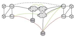 De architectuur van het informatiesysteem Stock Foto's