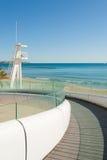 De architectuur van het strand Stock Afbeeldingen