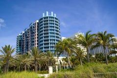 De architectuur van het Strand van Miami Royalty-vrije Stock Afbeeldingen