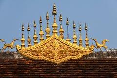 De Architectuur van het tempeldak - Luang Prabang, Laos Royalty-vrije Stock Foto