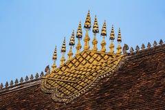 De Architectuur van het tempeldak - Luang Prabang, Laos Stock Afbeelding