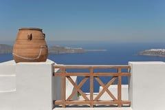De architectuur van Imerovigli, Santorini, Griekenland Royalty-vrije Stock Fotografie