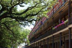 De architectuur van New Orleans in Frans kwart royalty-vrije stock foto