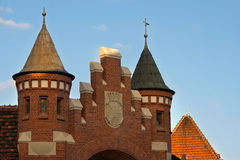 De architectuur van Nice in Bydgoszcz. royalty-vrije stock afbeeldingen