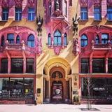 De architectuur van Nice in Lodz, Polen Stock Foto's