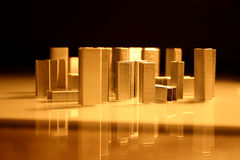 De architectuur van nietjes, stad I stock foto