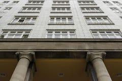 De architectuur van Oost-Berlijn, jaren '50 Stock Afbeeldingen