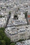 De architectuur van Parijs van hierboven royalty-vrije stock afbeeldingen