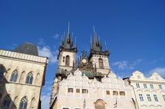De architectuur van Praag Stock Afbeeldingen