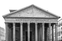 De architectuur van Rome, Italië in zwart-wit Stock Foto