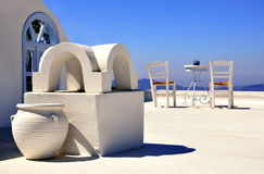 De architectuur van Santorini Stock Foto