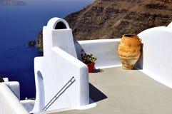 De architectuur van Santorini Royalty-vrije Stock Foto's