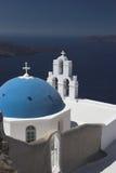 De architectuur van Santorini in cyclads Stock Fotografie