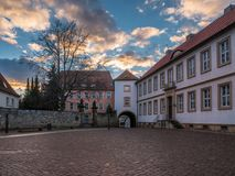 De architectuur van stad Hildesheim, Duitsland royalty-vrije stock fotografie