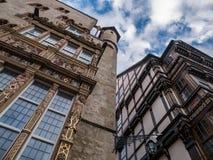 De architectuur van stad Hildesheim, Duitsland stock afbeelding