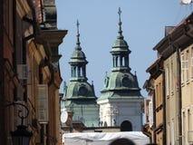 De architectuur van de stad van Warshau in Polen royalty-vrije stock afbeeldingen