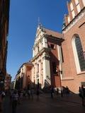 De architectuur van de stad van Warshau in Polen royalty-vrije stock foto