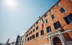 de architectuur van de de vlieghemel van Italië Venetië Stock Fotografie