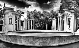 De architectuur van Warshau Artistiek kijk in zwart-wit Stock Afbeelding