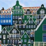De Architectuur van Zaandam Stock Foto
