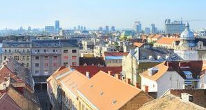De architectuur van Zagreb stock foto's
