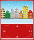 De architectuurachtergrond van de winter Stock Foto's