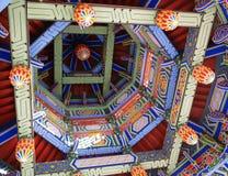 De architectuurdetails van de tempel Stock Foto's