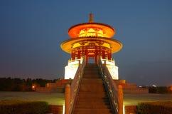 De architectuurnacht van China stock foto