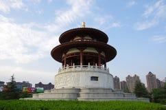 De architectuurnacht van China royalty-vrije stock foto's