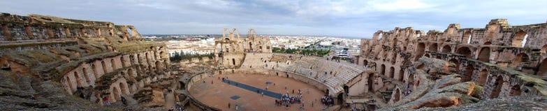 De Arena Colosseum van Tunis Stock Afbeelding