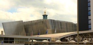 De arena Stockholm van de waterkant Stock Afbeeldingen