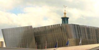 De arena Stockholm van de waterkant Stock Afbeelding
