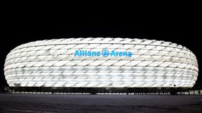 De Arena van Allianz in München Duitsland royalty-vrije stock foto's