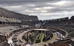 De arena van Colosseum en ondergronds Stock Fotografie